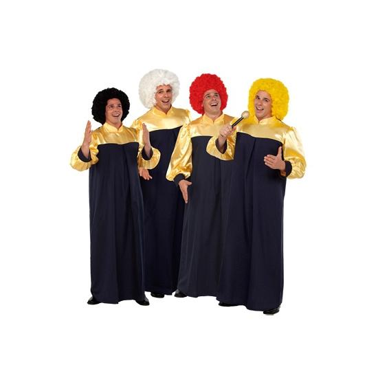 Gospel toga voor volwassenen. deze zwart met gouden gospel toga voor volwassenen is te bestellen in 1 maat ...