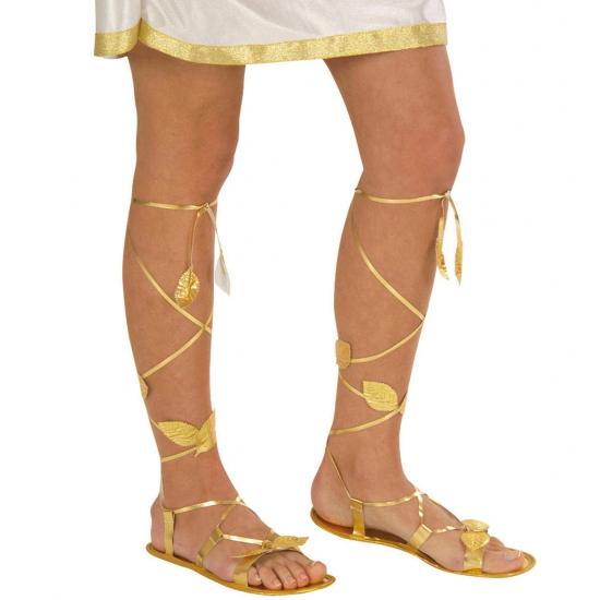 Romeinse gouden sandalen. gouden sandalen voor bijvoorbeeld een cleopatra, een romeins, een gladiator of een ...