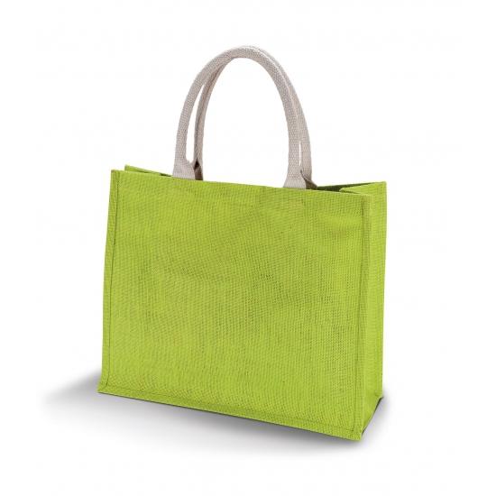 Jute Strandtas Lime Trapauto shop kopen