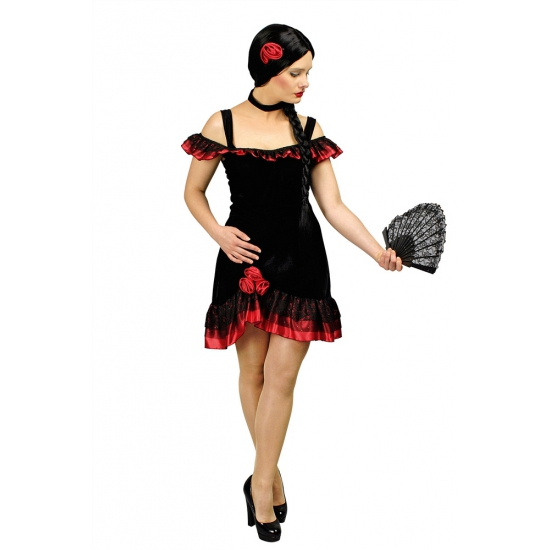Traditionele flemenco jurk met accessoires