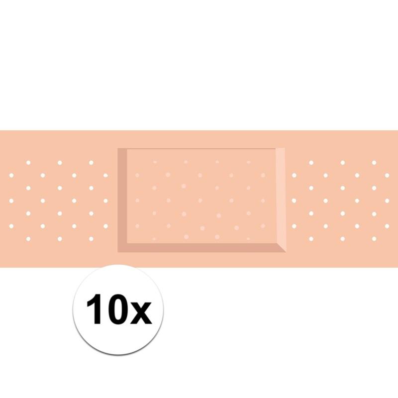 10 x Verkleed pleister sticker verpleegster-chirurg outfit
