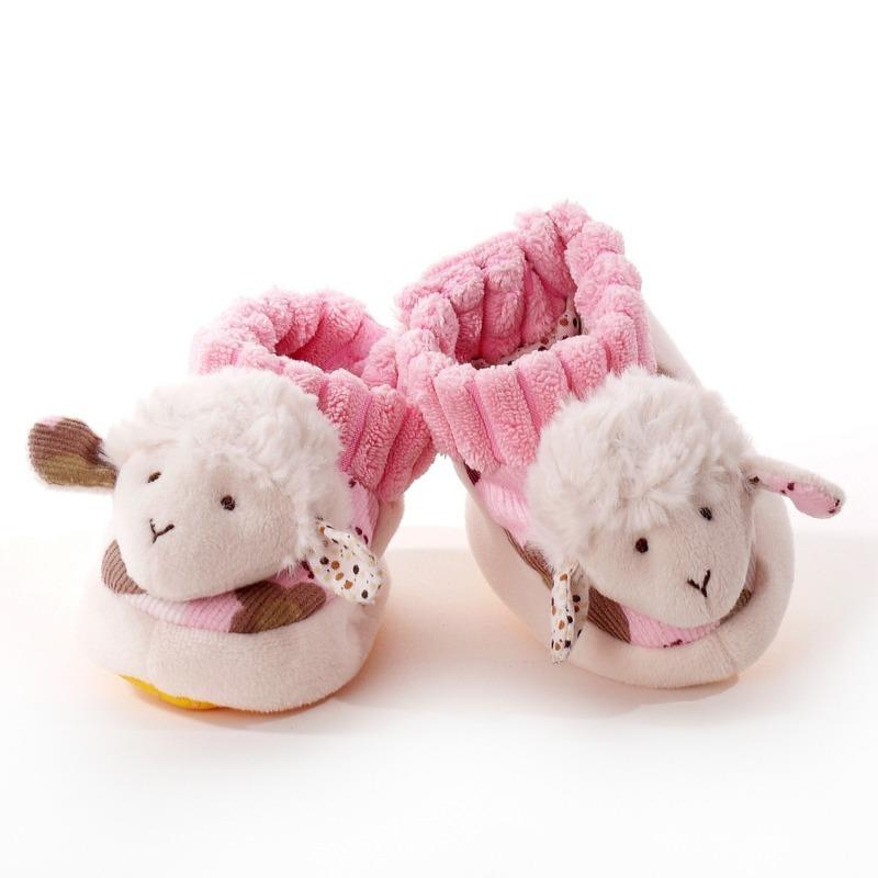 Babyslofje schaaplammetje wit roze 0 10mnd Geen Goedkoop