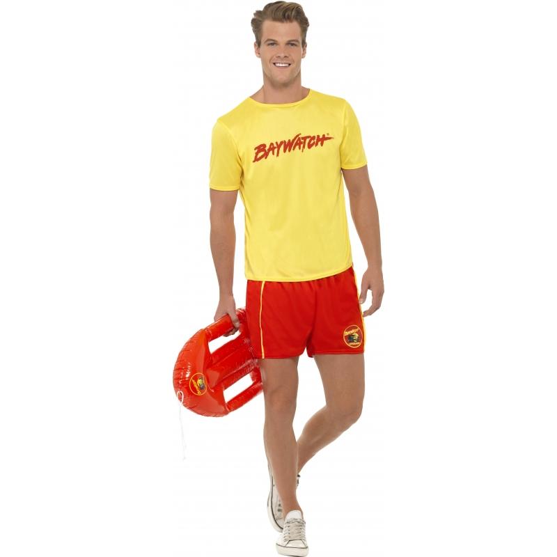 Baywatch kostuum voor heren. baywatch kostuum voor heren, bestaande uit een t shirt en een broek.