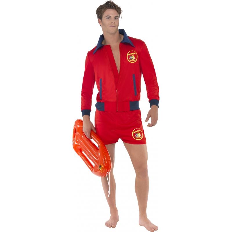 Baywatch lifeguard kostuum voor heren. baywatch jas en broek. dit baywatch kostuum bestaat uit een rood jasje ...