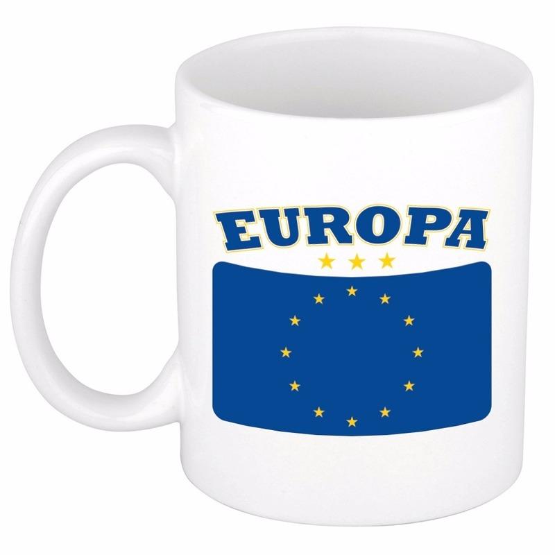 Beker - mok met vlag van Europa 300 ml