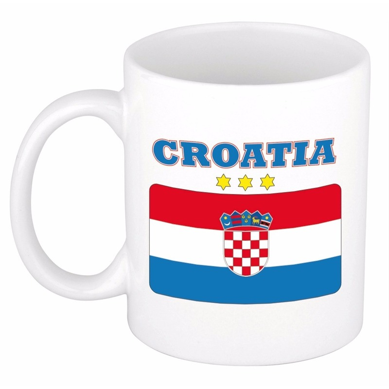 Beker - mok met vlag van Kroatie 300 ml