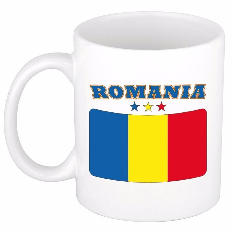 Beker mok met vlag van Roemenie 300 ml Shoppartners te koop