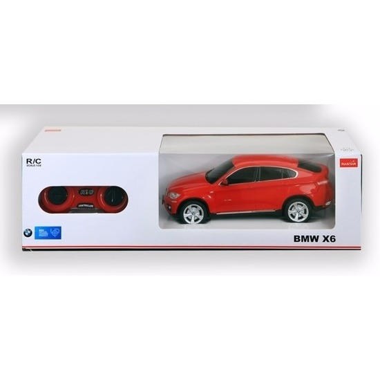 BMW BMW X6 rood radiografisch bestuurbaar 1 24 Speelgoedvoertuigen