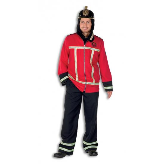 Brandweer kostuum voor heren. dit brandweer kostuum bestaat uit een broek en een jas. het kostuum is gemaakt ...