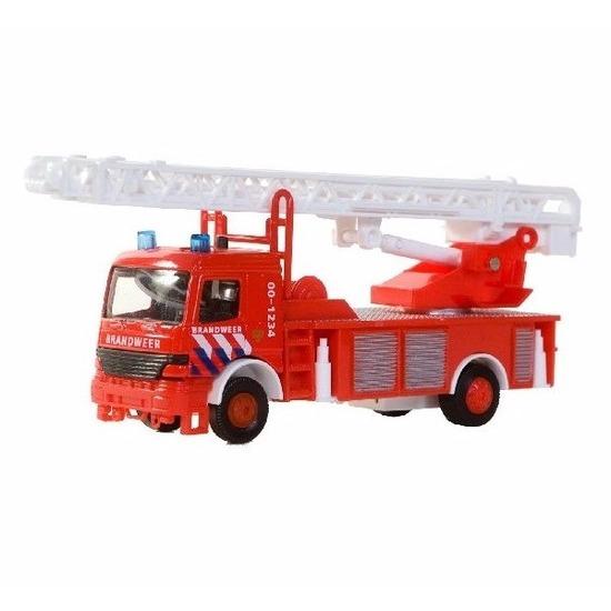Speelgoedvoertuigen Geen Brandweerwagen met ladder voor kinderen 15 cm