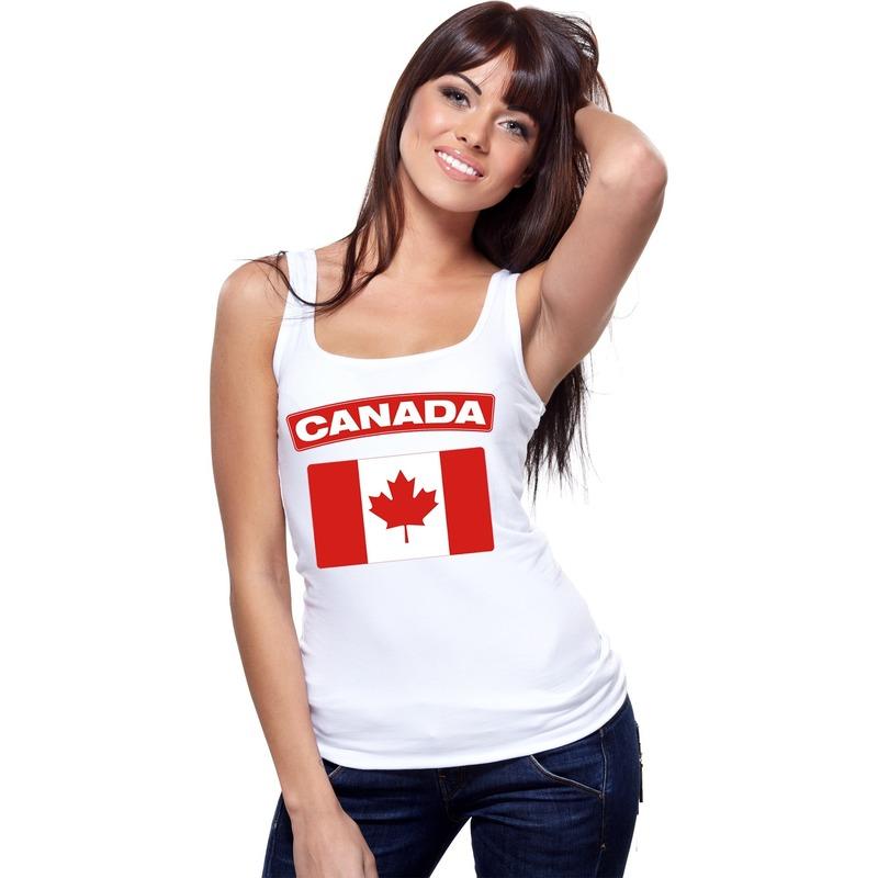 Canada vlag mouwloos shirt wit dames Shoppartners gaafste producten