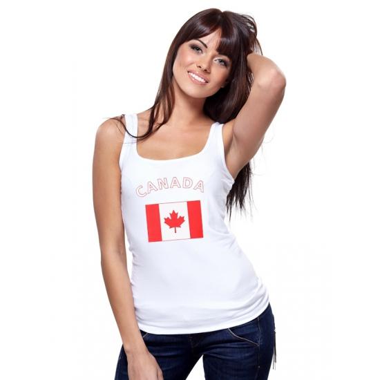 Landen versiering en vlaggen Canadeese vlag tanktop t shirt voor dames
