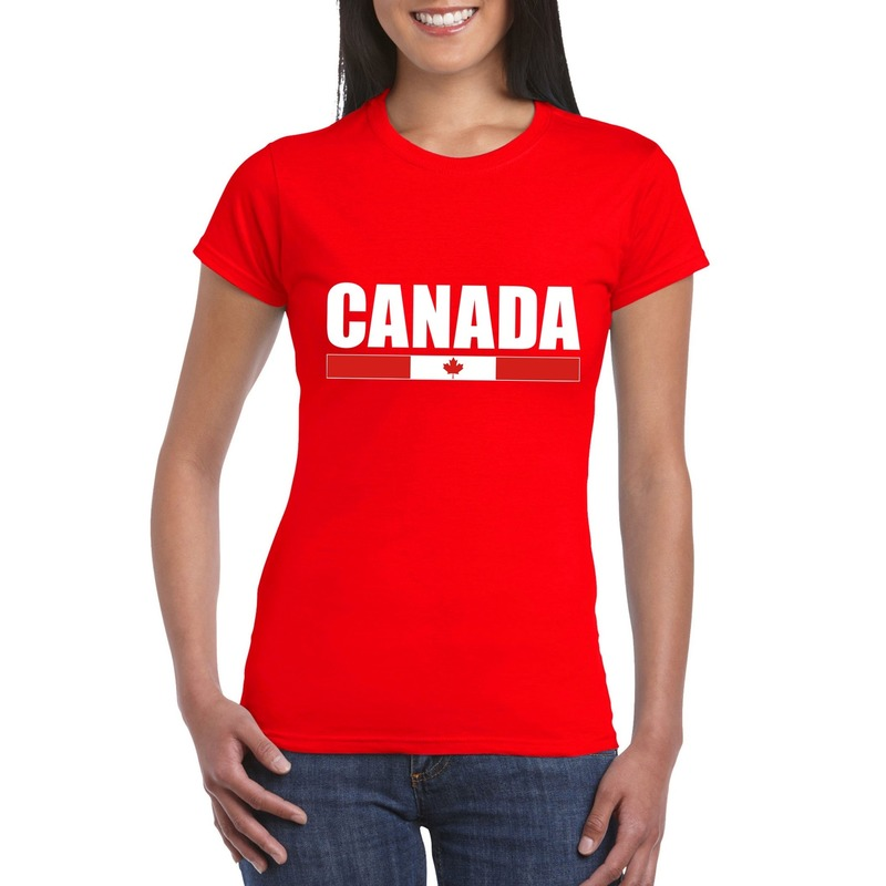 Canadese supporter t shirt rood voor dames Shoppartners beste