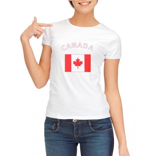 Shoppartners Canadese vlag t shirt voor dames Landen versiering en vlaggen