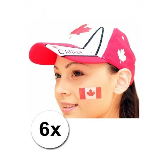 Korting 32% Korting Canadese vlag tattoeages 6 stuks