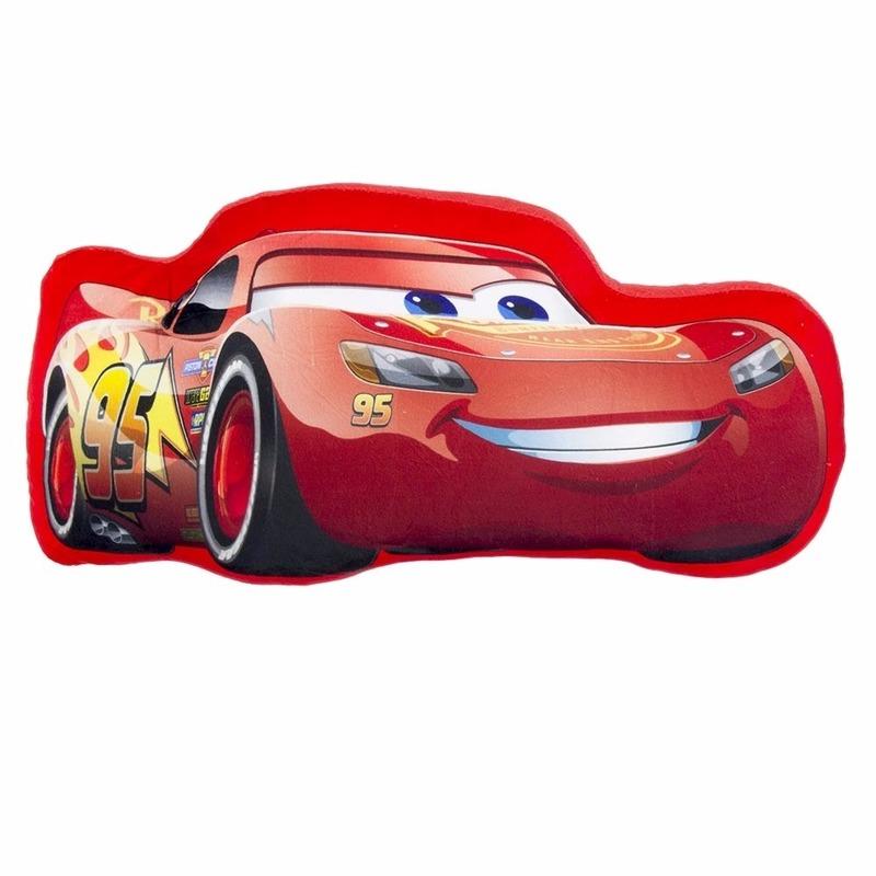 Kussens Disney Cars Lightning McQueen kinderkamer kussentje 46 x 21 cm