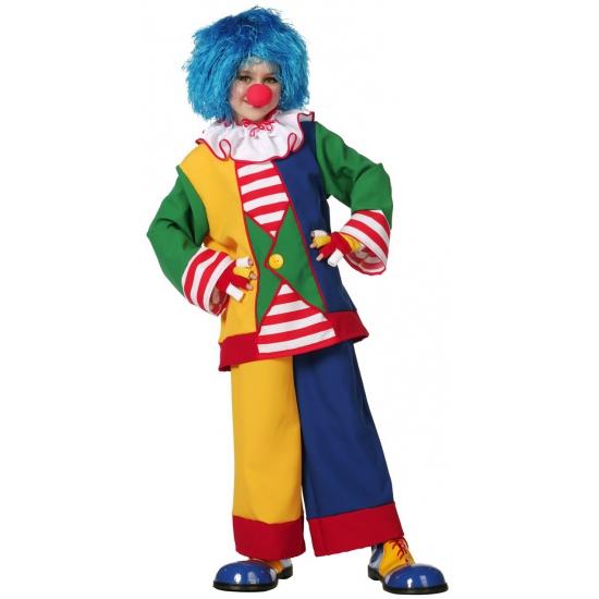 Clown kostuum voor kinderen. vrolijk gekleurde clown verkleed kostuum voor kinderen. het clown kostuum ...
