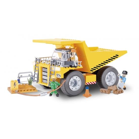 Educatief speelgoed Cobi kiepwagen bouwstenen pakket