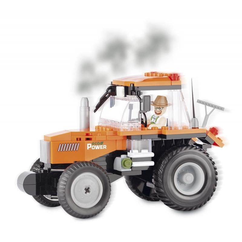 Educatief speelgoed Cobi Cobi tractor bouwstenen pakket