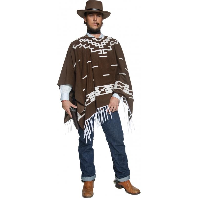Authentieke western cowboy kostuum voor heren. het western cowboy kostuum bestaat uit een lange bruine ...