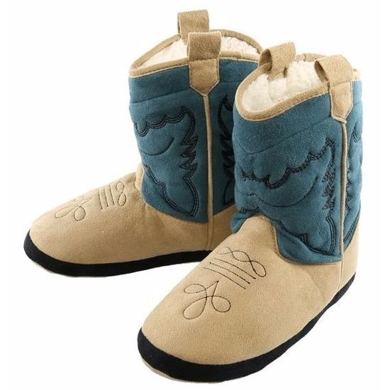 Sloffen en Pantoffels Cowboy pantoffels blauw voor jongetjes