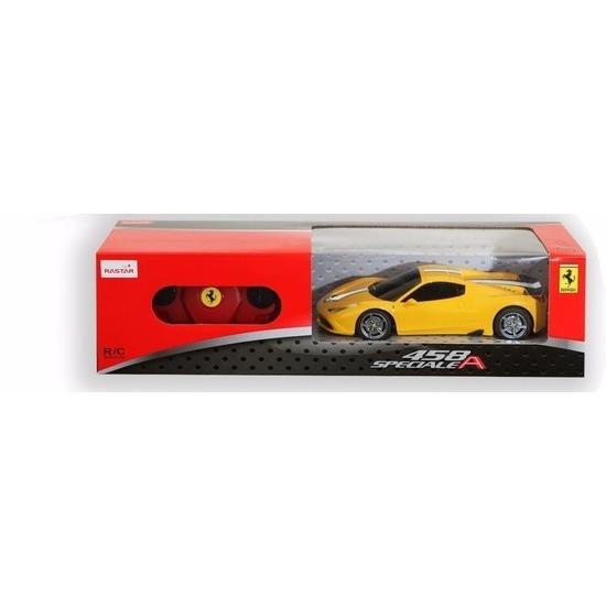 Speelgoedvoertuigen Geen Ferrari 458 Speciale gele radiografisch bestuurbaar 1 24