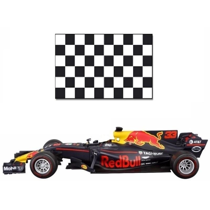 Formule 1 speelgoedwagen Max Verstappen 1 43 met finish vlag Bburago te koop