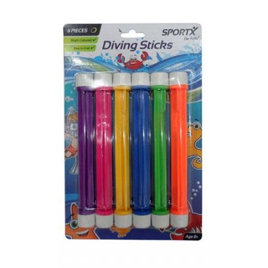 Gekleurde duik sticks