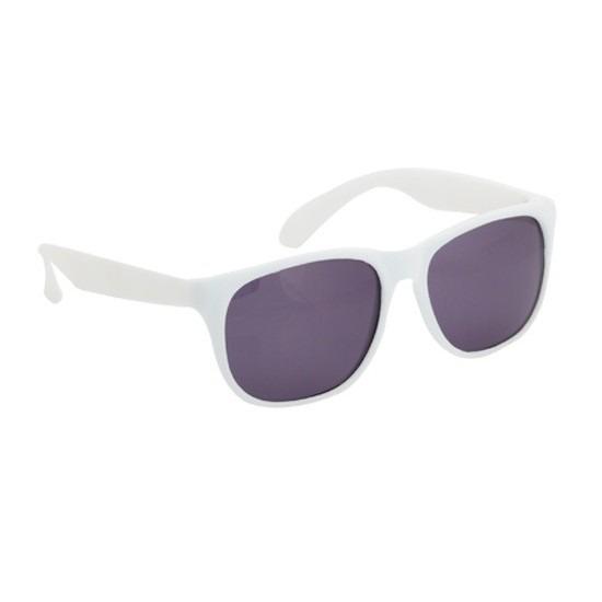 bd5cb98f832d2c Hippe voordelige zonnebril met wit montuur. voordelige plastic zonnebril  met een wit montuur en uv