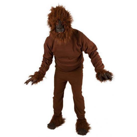 Aap kostuum voor volwassenen. dit apenkostuum is inclusief los opzetbare apenkop, handen en voeten. leuk aap ...