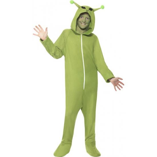 Groene alien onesie voor kids
