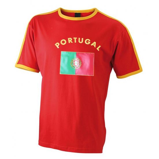 Landen versiering en vlaggen Shoppartners Heren t shirt met de Portugese vlag