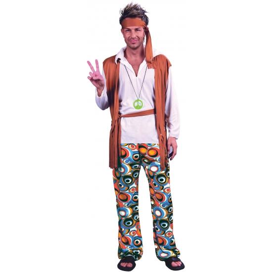 Hippie peace kostuum voor heren. compleet hippie kostuum voor heren. dit jaren zestig hippie kostuum bevat de ...