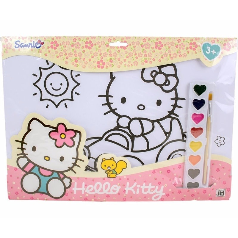 Hobby Verfsetje Hello Kitty A3 Kleurplaten