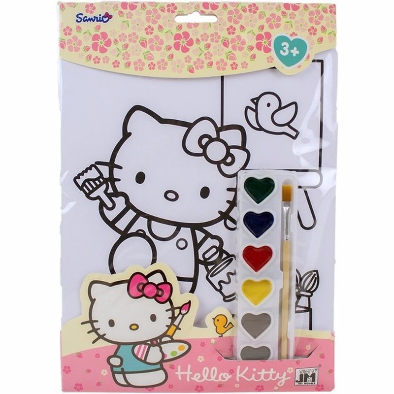 Hobby Verfsetje Hello Kitty A4 Kleurplaten