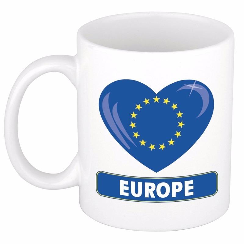 I love Europa mok - beker 300 ml