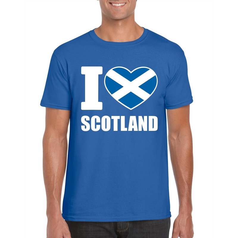 Shoppartners I love Schotland supporter shirt blauw heren Landen versiering en vlaggen