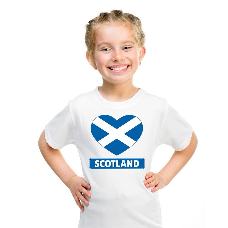 I love Schotland t shirt wit kinderen Shoppartners voordeligste prijs