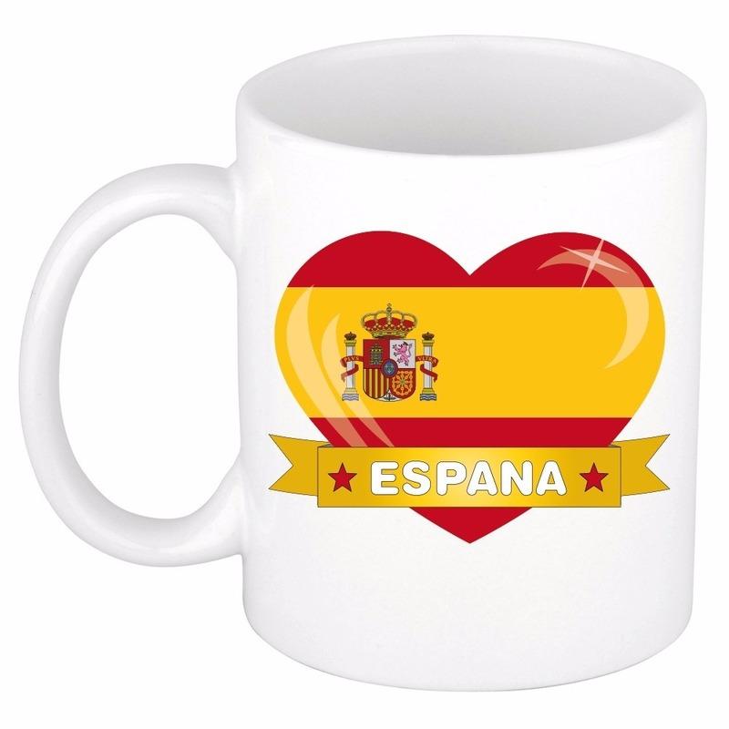 I love Spanje mok beker 300 ml Shoppartners Landen versiering en vlaggen