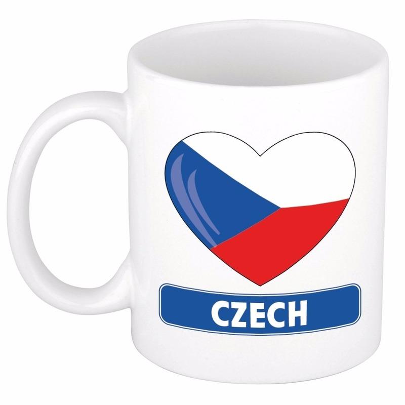I love Tsjechie mok beker 300 ml Shoppartners Landen versiering en vlaggen