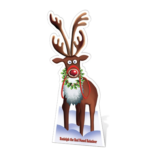 Kerst versiering kartonnen Rudolph
