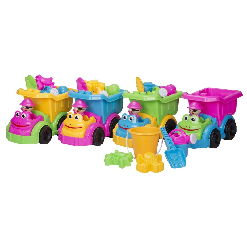 Geen Kiepwagen speelset 7 delig roze Buitenspeelgoed