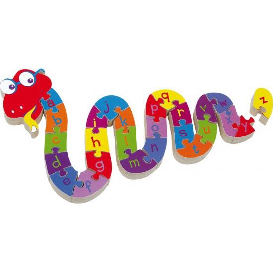 Kinder alfabet puzzel slang Disney Puzzels