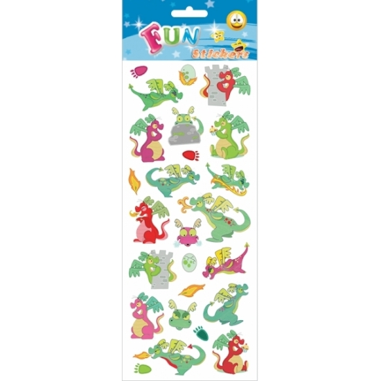 Schoolspullen Kinder draken stickers cartoon