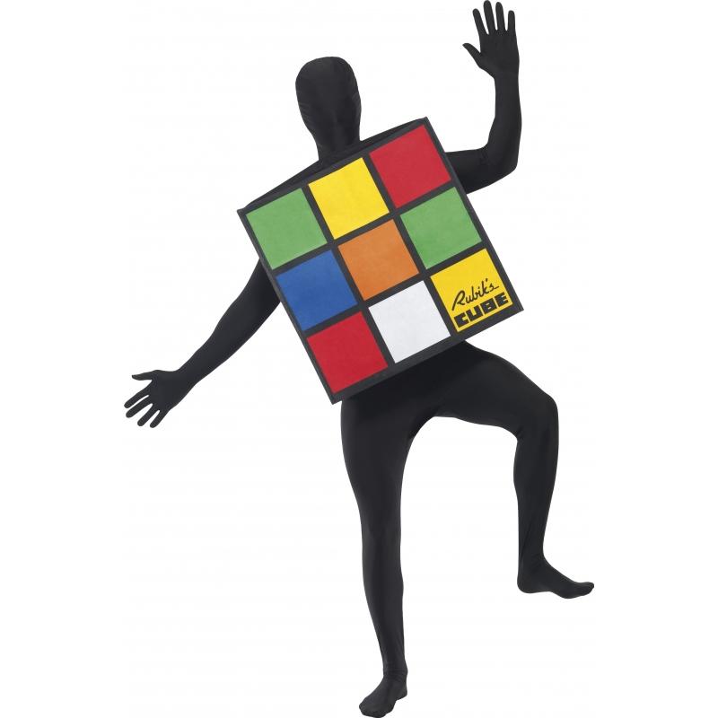 Rubiks kubus kostuum voor volwassenen. origineel kostuum van de rubiks kubus. u draagt het rubiks kubus ...