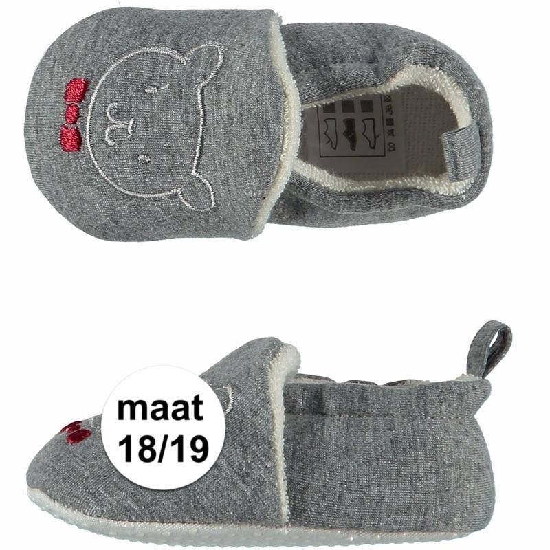 Sloffen en Pantoffels Kraamkado babyslofjes met beer maat 18 19