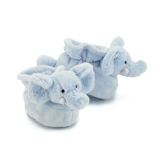 Sloffen en Pantoffels Kraamkado blauwe olifant slofjes