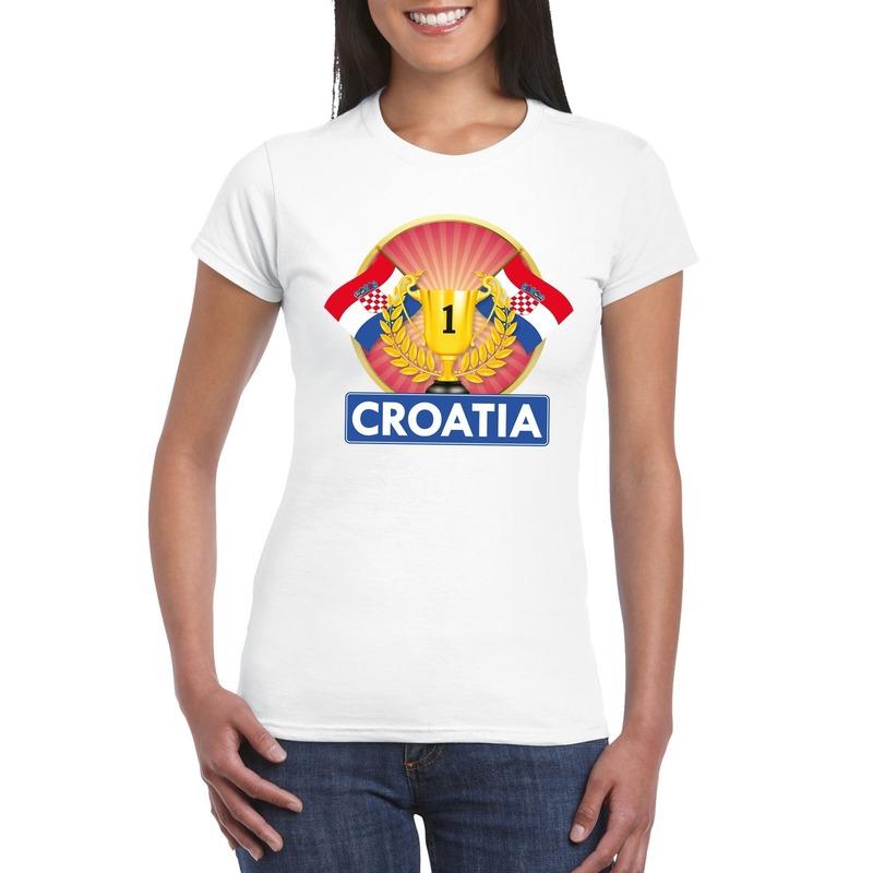 Kroatie kampioen shirt wit dames