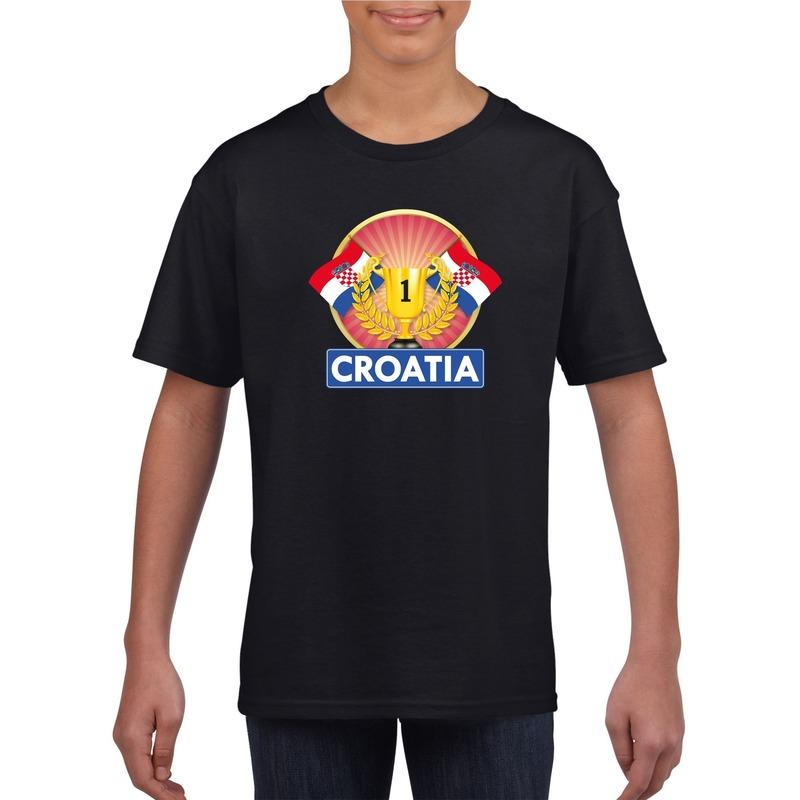 Kroatie kampioen shirt zwart kinderen