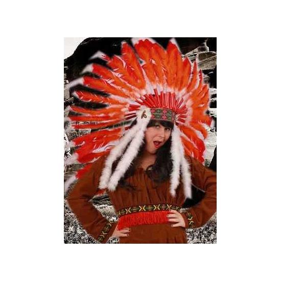 Luxe indianentooi rood-oranje